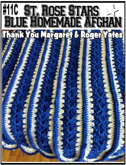 St. Rose Stars Blue Homemade Afghan