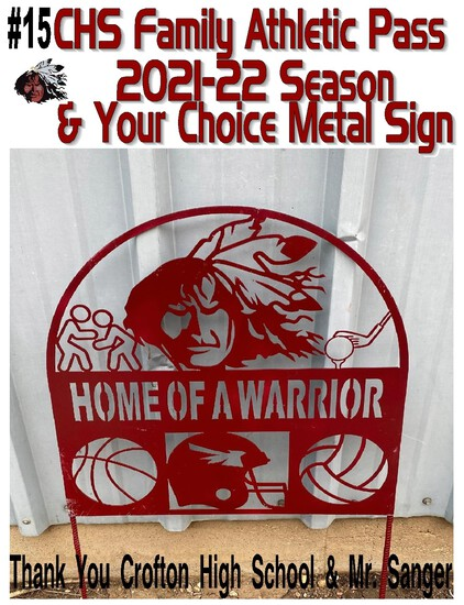 Crofton High School Annual Family Athletic Pass for the 2021-2022 Season