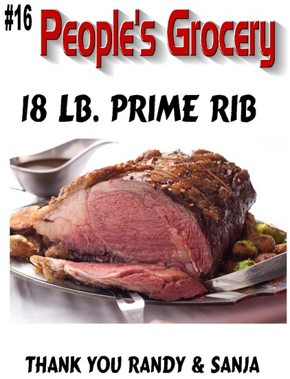 Peoples Grocery 18lb Prime Rib