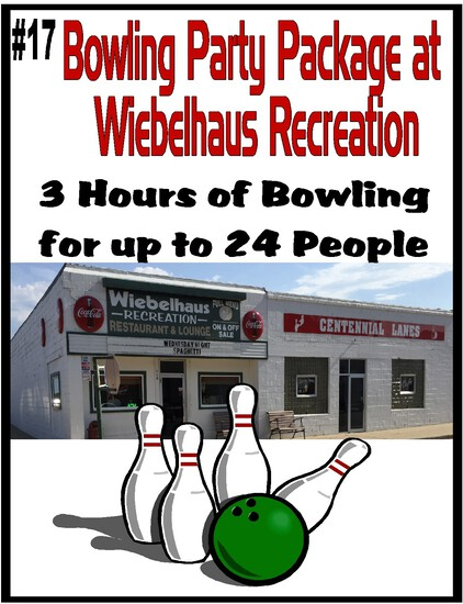 Bowling Party for 24 at Wiebelhaus Recreation/Centennial Lanes