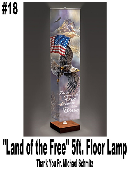 """Land of the Free"" 5 ft. Floor Lamp"