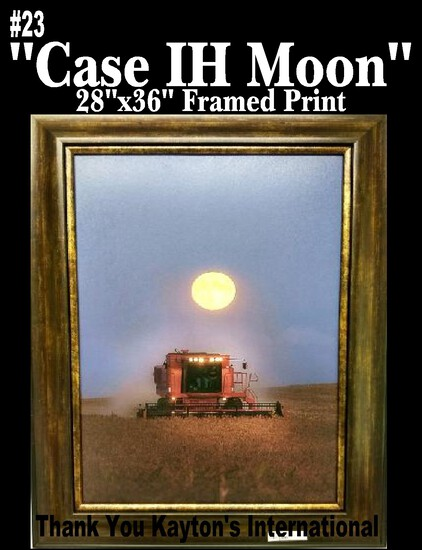 """Case IH Moon"" - Framed Print"