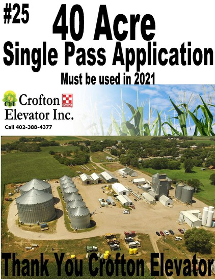 40 Acres Single Pass Application --- Crofton Elevator