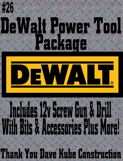 "Dave Kube Construction DeWalt ""Fix Anything"" Tool Package"