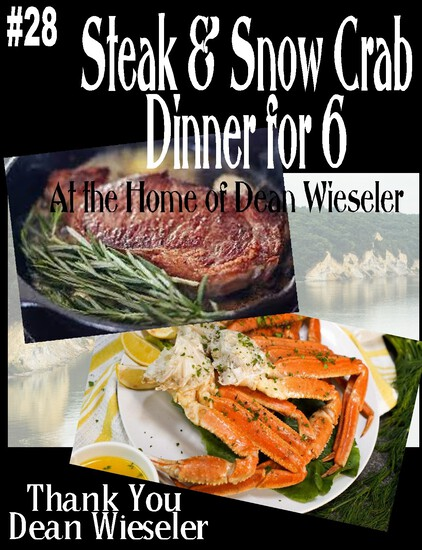 Steak & Snow Crab Dinner for 6