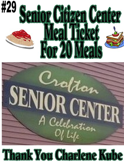 Senior Citizens Center Meal Ticket