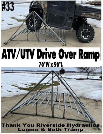 Drive Over Ramp for ATV/UTV