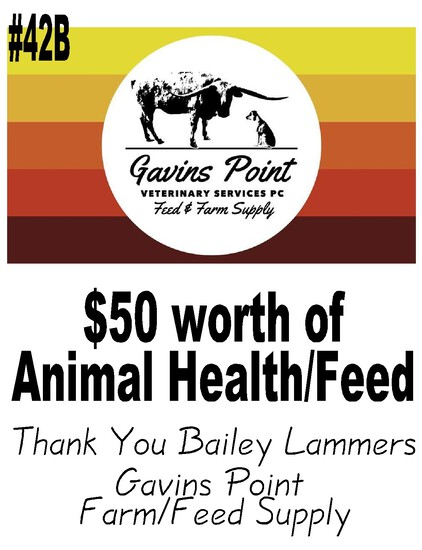 Gavins Point Veterinary Services PC, Farm/Feed  - $50 Worth Animal Health/ Feed