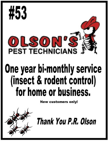 Olson's Pest Technicians Pest Control for a Year