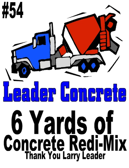 6 Yards of concrete Redi-Mix donated by Leader Concrete - Yankton