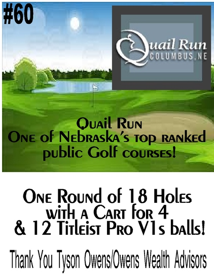 Golf Pass for 4 at Quail Run - Columbus