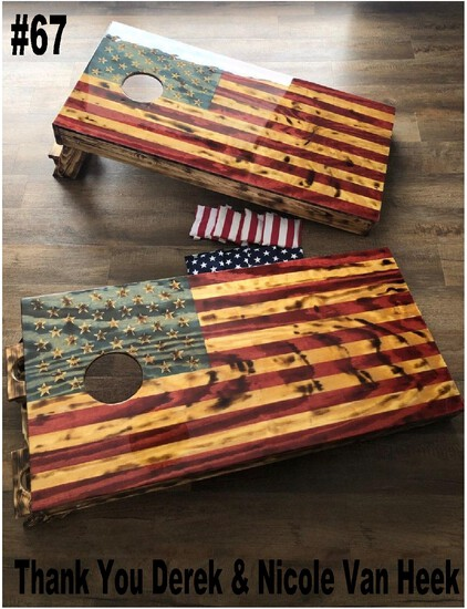 American Flag Cornhole Game Boards