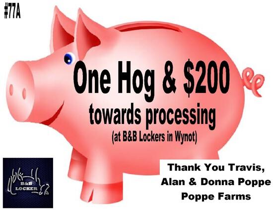 Hog and Processing at B&B Locker in Wynot