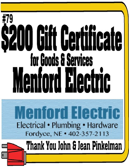 Menford Electric $200 Gift Certificate