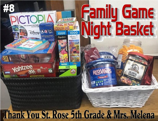"""Family Game Night Basket"" - Many Games and Treats!"