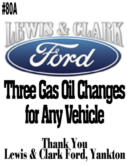 Lewis and Clark Ford Package --- Three Gas Oil Changes At L&C Ford For Any Vehicle