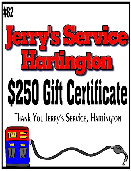 Jerry's Service $250 Gift Certificate