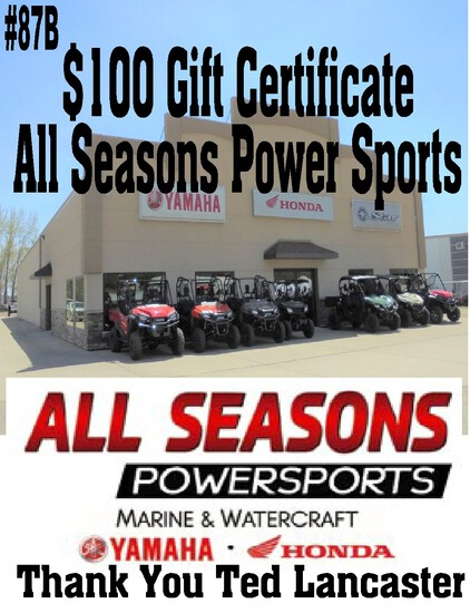 All Season Power Sports - $100 Gift Certificate