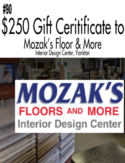 Mozak's Floor and More Interior Design Center - $250 Gift Certificate
