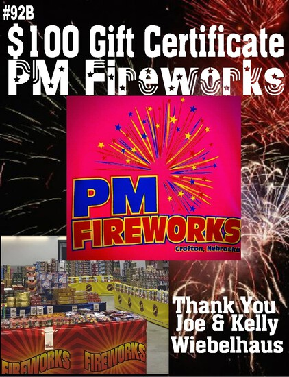 PM Fireworks - $100 Gift Certificate