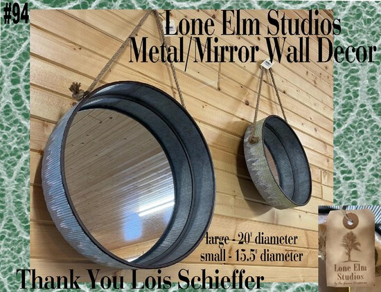 Metal/Mirror Farmhouse Style Wall Décor