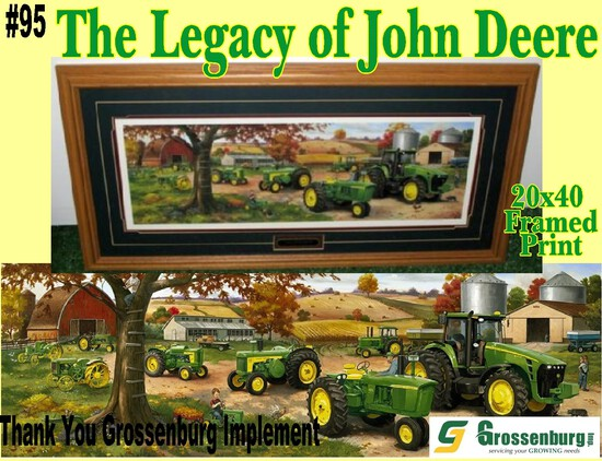 """The Legacy of John Deere"" Framed Print"