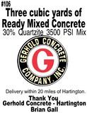 Three Yards of Concrete Redi-Mix