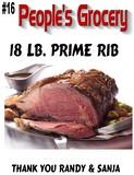 Peoples Grocery 18lb Prime Rib