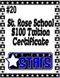 St. Rose $100 Tuition Certificate