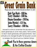 Great Grain Bank - 23 Bushels of Corn