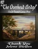 """""""The Overhead Bridge"""" Framed 15 x 20 Canvas Print"""