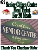 Senior Citizens Center Meal Ticket