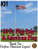 20 ft. Flag Pole and American Flag