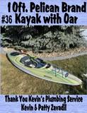 10 ft. Pelican Brand Kayak With Oar