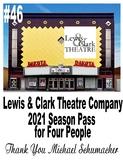 Lewis & Clark Theatre Company – Yankton - 2021 Season Pass for 4 People