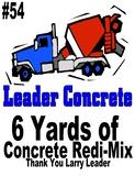 6 Yards of concrete Redi-Mix donated by Leader Concrete - Yankton