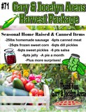 Harvest Package of Seasonal Home Raised and Canned Items