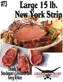 Large 15 lb. New York Strip