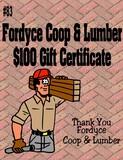 Fordyce Coop & Lumber $100 Gift Certificate
