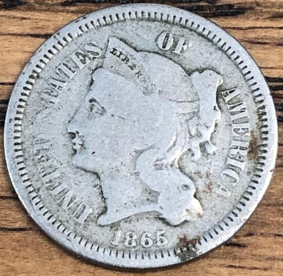 1865 United States Three Cent Piece