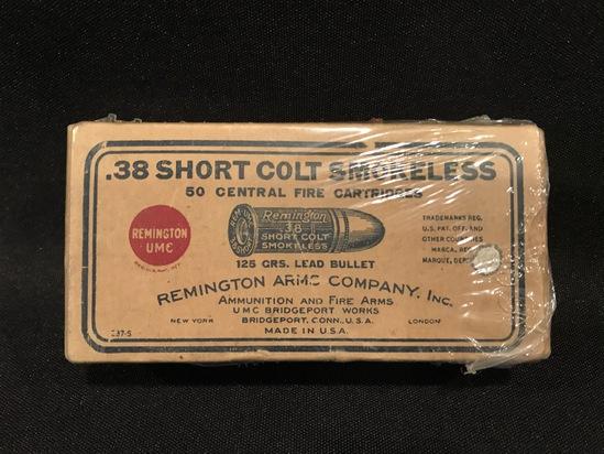 Remington UMC .38 Short Colt Smokeless 125gr Two-Piece Box--Full