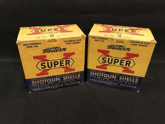 (2) Boxes of Western Super X 12ga Paper Shotgun Shells