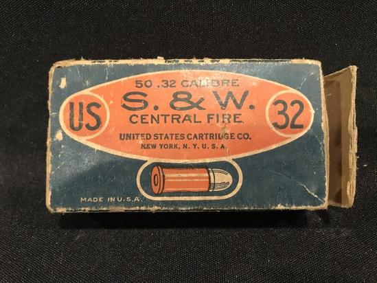 United States Cartridge Co. .32 S&W Black Powder Centerfire