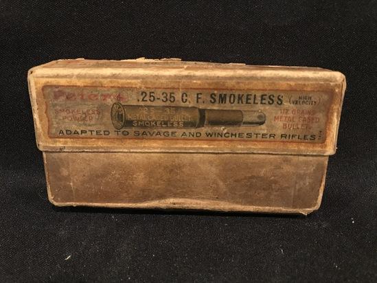 Peters High Velocity .25-35 C.F. Smokeless Two Piece Box--Full