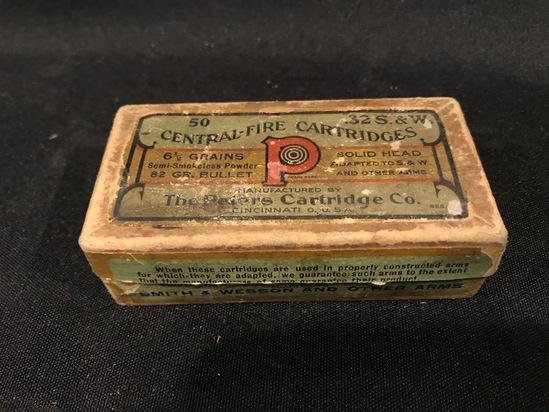 Peters .32 S&W Semi-Smokeless Two Piece Box