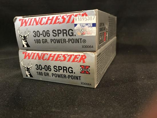 (2) Winchester 30-06 180gr Power Point