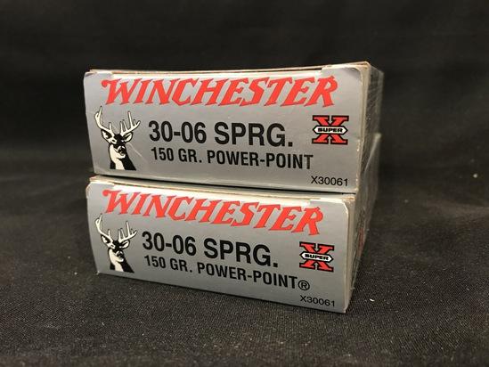 (2) Winchester 30-06 150gr Power Point