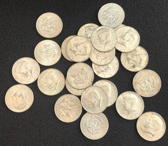 Set of (24) 40% Silver Kennedy Half Dollars