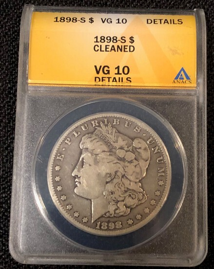 1898-S Morgan Silver Dollar -- VG Details by ANACS