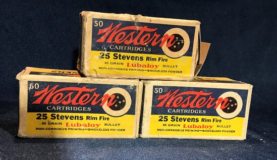(3) WESTERN .25 STEVENS RIMFIRE